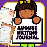 August Writing Journal Prompts for Preschool and Kindergarten