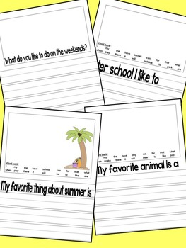 August Writing Journal with CCSS