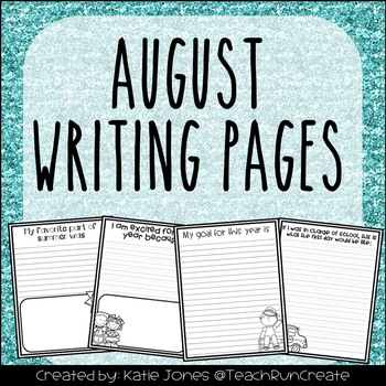 August Writing Pages
