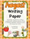 August Writing Paper