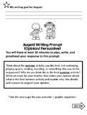 August Writing Prompt