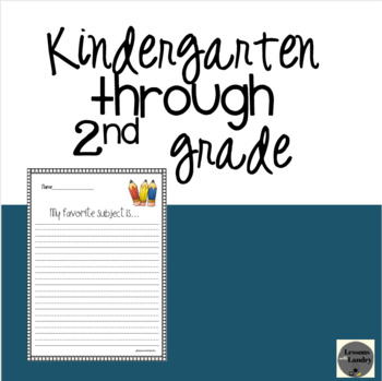 August Writing Prompts Kindergarten - 2nd grade