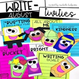 August Writing Prompts | Back to School Activities | All About Me