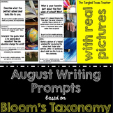 August Writing Prompts (Based on Bloom's Taxonomy)- With R