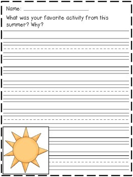 August Writing Prompts (Summer and Back to School Galore!)