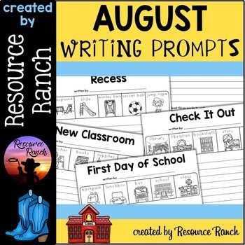 August FREE Writing Prompts for Back to School