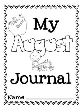 August Writing Prompts for Journals and Centers Back to School