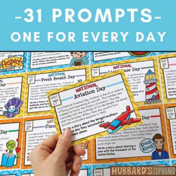 August Writing Prompts for National Holidays w/ Google Classroom Option