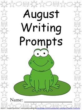 August Writing Prompts on Themed Paper {Just Print & Go!}