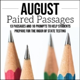 August Writing Test Prep & ELA Paired Passages for Upper E