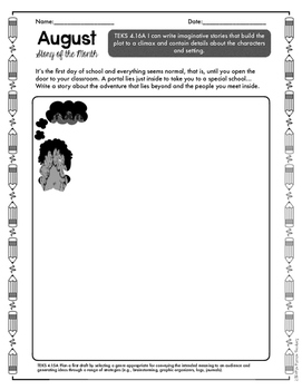 August Print and Go Writing Journal (English and Spanish) *FREEBIE*