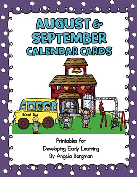 August and September Calendar Cards - FREEBIE