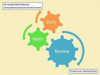 August and September Daily Math Review Slides with Answers