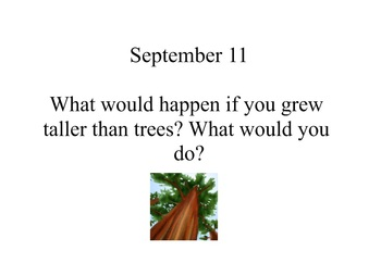 August and September Daily Writing Prompts