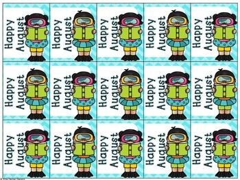 August and September Holiday Brag Tags