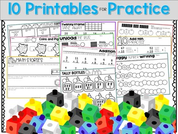 August and September Math Centers, Journals, and Printables Second Grade