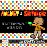 August and September Nonfiction Reading Comprehension Pass
