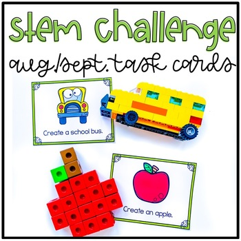 August and September Stem Challenge Using LEGO Bricks