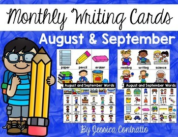 August and September Writing Center Cards