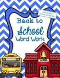 August and September bulletin board words