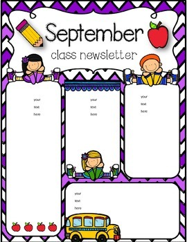 August and September newsletters freebie