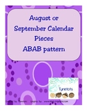 August or September ABAB calendar pieces