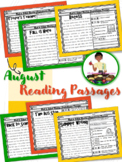 August Reading Comprehension Back to School