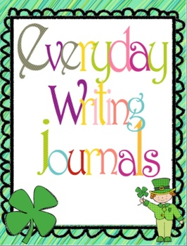 August to May Everyday Writing Journals Printable