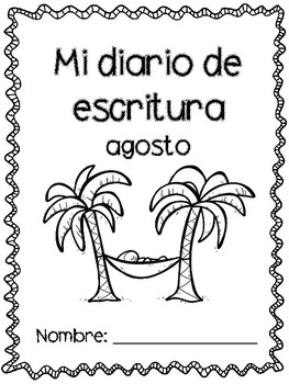 August writing prompts in Spanish