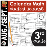 August/September Calendar Math Student Journal