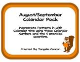 August/September Calendar Pack Freebie