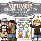 September Daily Calendar Review and Math Practice