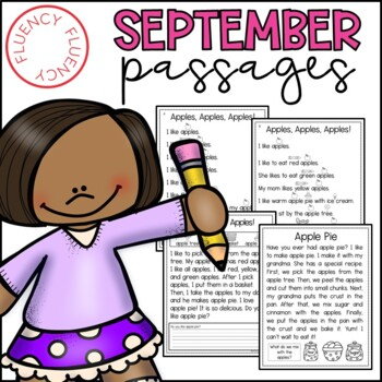 August/September Fluency Passages (Differentiated)