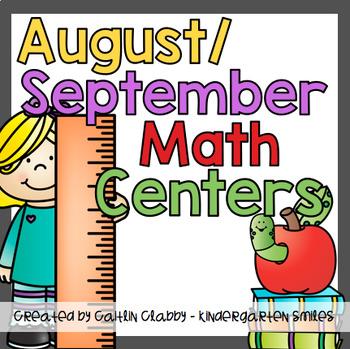 August/September Math Centers