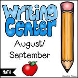 August/September Math Writing Station