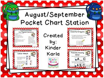 August/September Pocket Chart Station