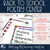 August/September Poetry Literacy Center
