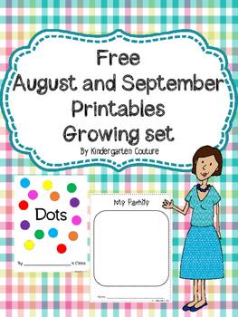 August/September Printables -Growing Set Freebie