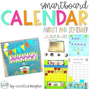 Calendar - August/September SMARTBoard Calendar Primary Grades