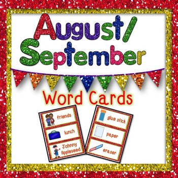 August/September Word Cards