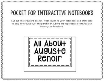 Auguste Renoir - Famous Artist Biography Research Project, Interactive Notebook