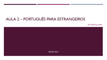 Aula 2/Class 2 - Português