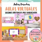 Aulas Virtuales Rosadas | All subjects | word wall | Dista