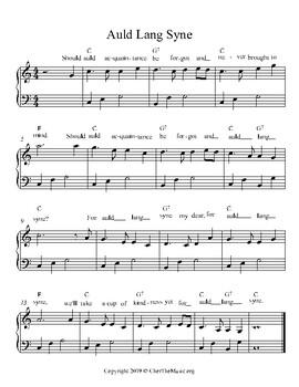Auld Land Syne free piano sheet