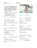 Music Lyric Study ESL Holiday Song