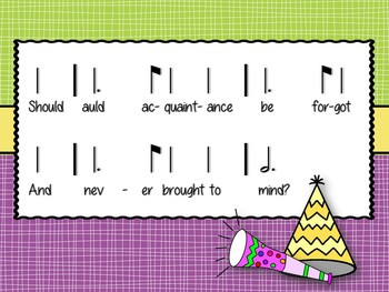 Auld Lang Syne: a song for practicing tam ti and extended pentatonic