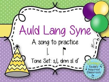 Auld Lang Syne: a song for practicing tam ti and extended