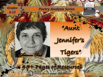 Aunt Jennifer's Tigers by Adrienne Rich Poem Study and Poetry Analysis
