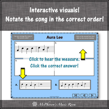 Soprano Recorder Song ~ Aura Lee Interactive Visuals {Notes GABCD}
