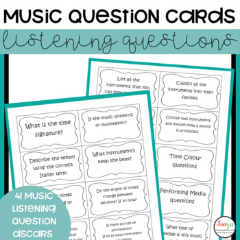 MUSIC : Music Aural Question Cards for Elective Music Students